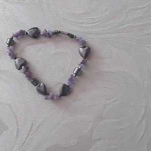 Jewelry - Fashion Bracelet purple, 8 inches long.